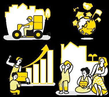 主にフードデリバリーの分野福祉の分野でコンサルティング事業を展開